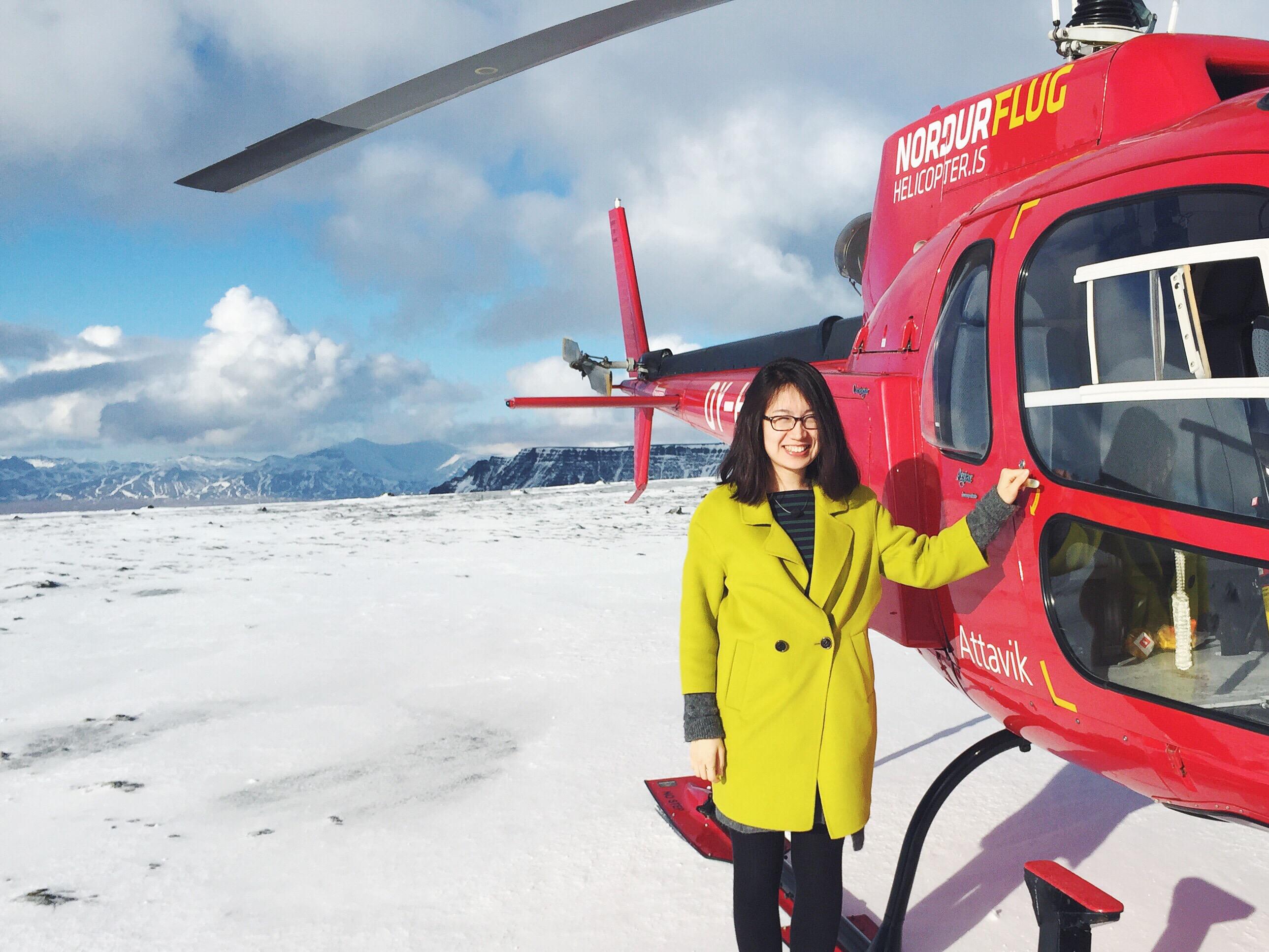 冰岛直升机团